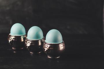 Easter eggs. Festive decoration. Happy Easter!