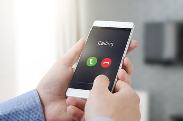 Making a call on a smart phone
