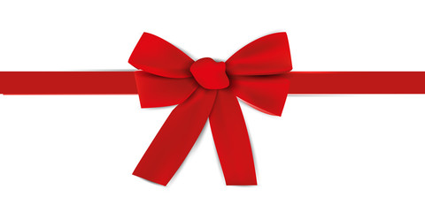 Gift decoration. Beautiful red ribbon - for stock