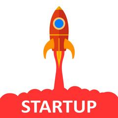 Startup, rocket concept  – stock vector