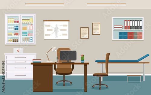 Superb Doctors Consultation Room Interior In Clinic Empty Medical Download Free Architecture Designs Embacsunscenecom