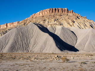 Natural castle Rock Formation by Highway 24 near Hanksville, Utah