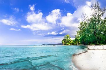 View on remote beach on Phu Quoc island - Vietnam
