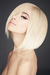 Foto auf AluDibond womenART Lovely asian woman with blonde short hair