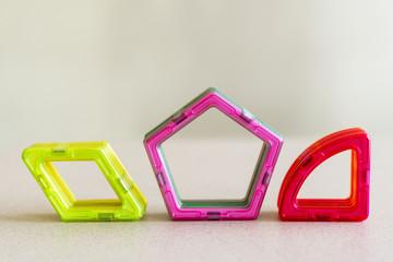 Children's geometric shapes. pentagon rhombus