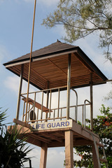 Life guard tower on the beach in Phuket, Thailand.