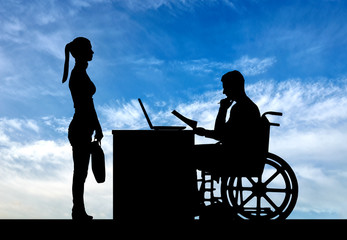 Concept of working disabled people