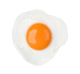 Photo on textile frame Egg Fried egg isolated on white background food object design