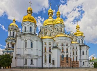 Foto op Aluminium Kiev Kiev,Ukraine. Church building architecture, Pechersk Lavra monastery