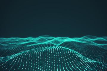 Creative polygonal wave background