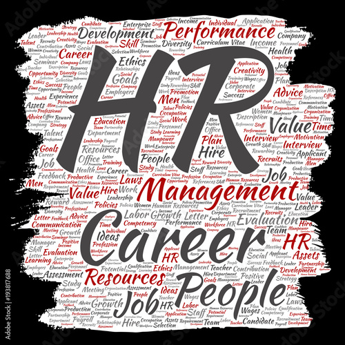 Vector concept conceptual hr or human resources career