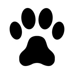 Animal paw print on a white background