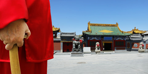 View of traditional chinese temple