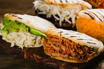 Different types of arepas, the typical Venezuelan food Wall mural