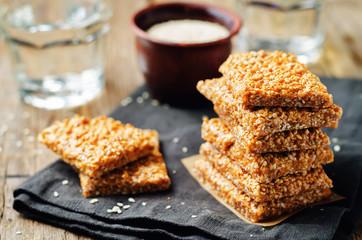 Honey sesame seed bars