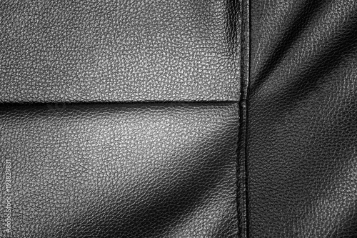Black Leather Texture Background Of
