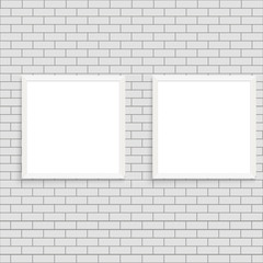 Realistic white poster frame mock up. Vector.