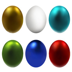 Graphic illustration with Easter eggs 1