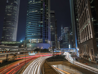 Connaught Road long exposure