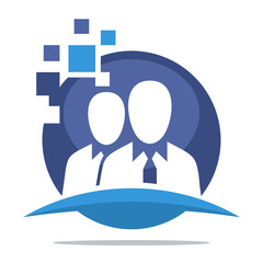 logo icon with the concept of expert team support on-line