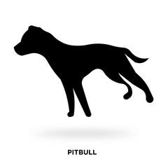 pitbull silhouette