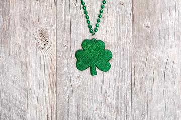 St. Patrick's Day Holiday Background With Glitter Shamrock