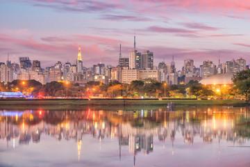 Fotomurales - Sao Paulo skyline from Parque Ibirapuera park