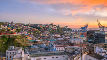 The historic quarter of Valparaiso in Chile