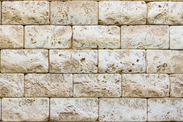 Ancient brickwork. beige old brick. background.