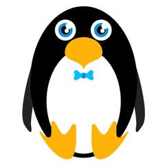 Cute stuffed penguin toy