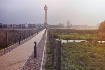 Heist Range Rear Lighthouse in Belgium