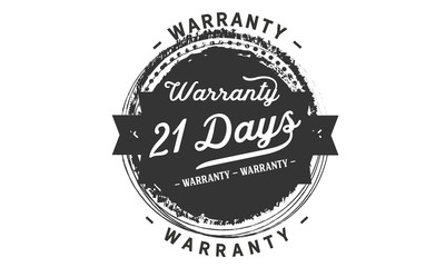 21 days warranty icon vintage rubber stamp guarantee