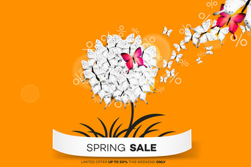 Final Spring Sale. Modern Conceptual Vector Illustration. Promotion Template For Banners, Posters, Gift Cards