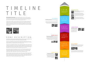 Vector colorful vertical Infographic timeline report template