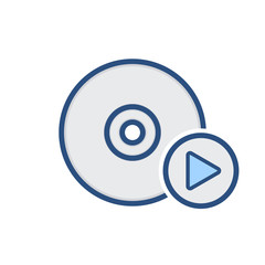Compact disk drive media storage icon