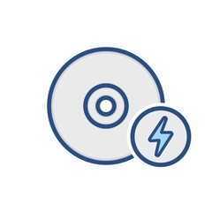 Compact disk drive fast storage icon