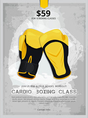 Boxing poster , boxing gloves illustration