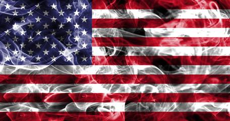United States of America smoke flag, American flag, USA flag Wall mural