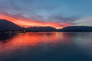 Como lake at sunset, Lombardia - Italy