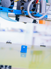 3d printer of the device during the processe