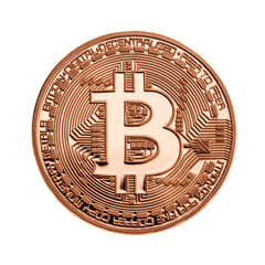 Copper Bitcoin isolated