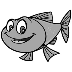 Goldfish Cartoon Illustration - A vector cartoon illustration of a Goldfish mascot.