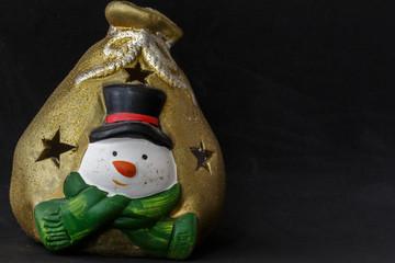 Golden snowman