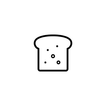 toast slice of bread icon simple black on white background