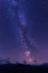 Milky way over Rondane national park in norway