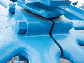 Blue gearwheel