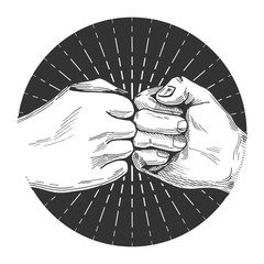 hand drawn fist bump