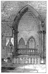 Wall Mural - victorian engraving of a gothic arch
