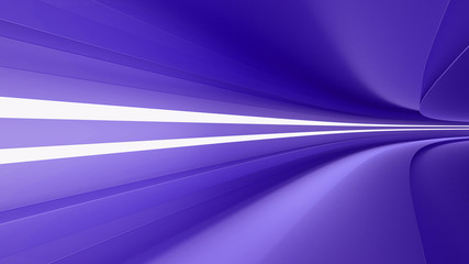 empty highway with spotlights color purple, dynamism and speed, 3d render,