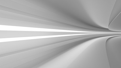 empty highway with spotlights color white, dynamism and speed, 3d render,
